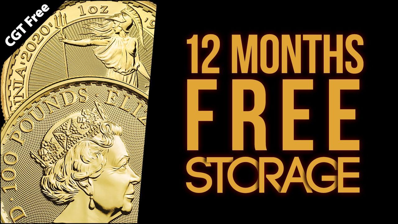 12 Months Free Storage